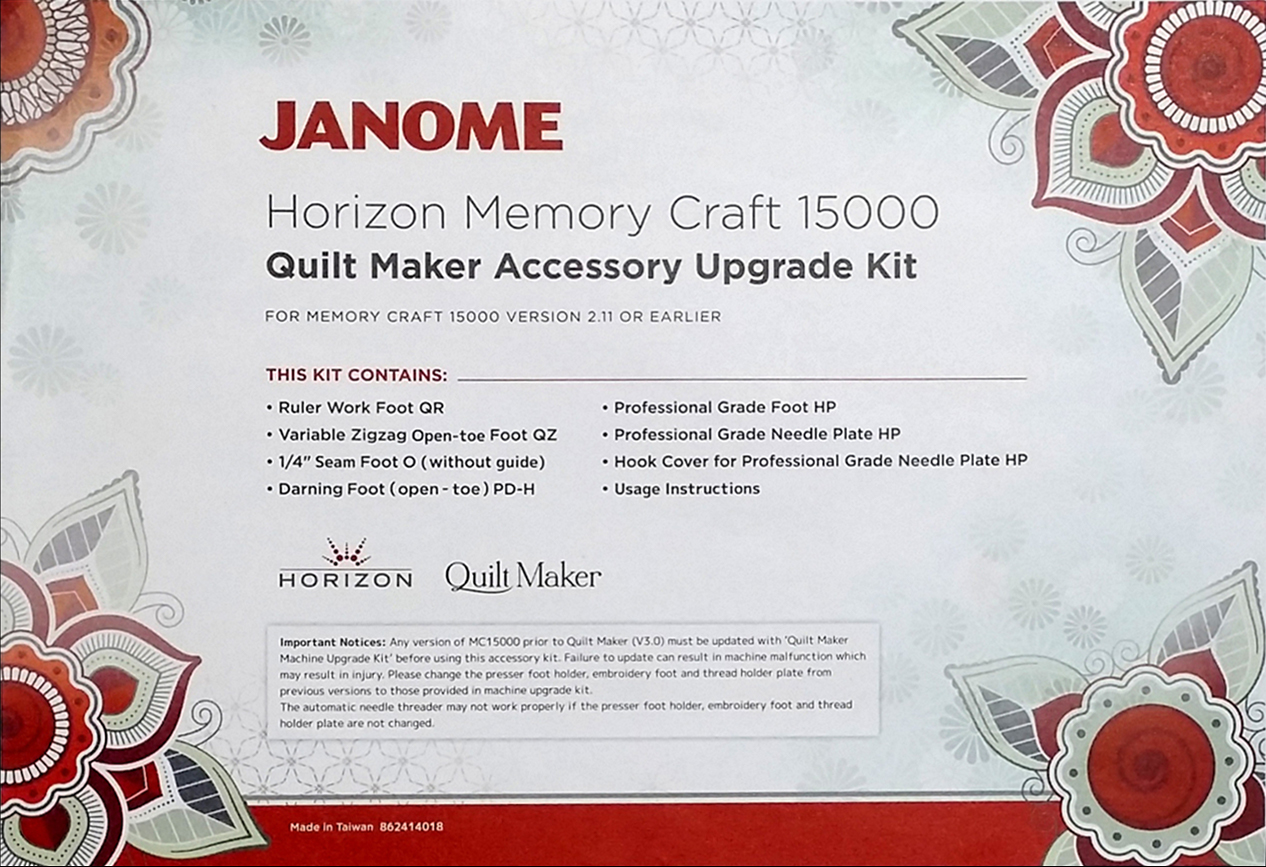 Janome MC15000 Quilt Maker Upgrade Kit