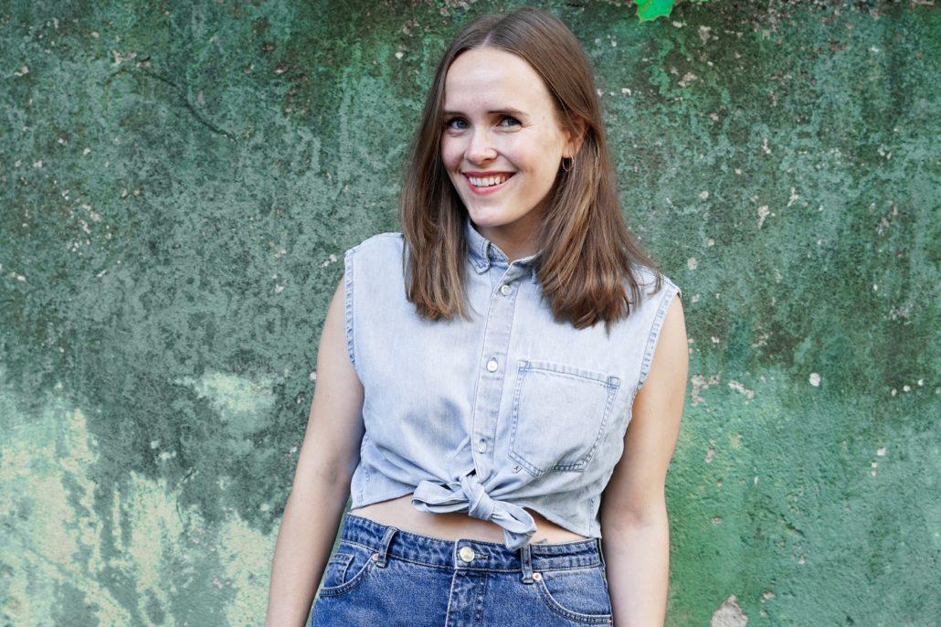 Hur du redesignar en skjorta med Ingrid Vik Lysne Grön vägg